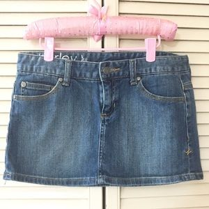 Hurley Denim Mini Skirt size 3 Blue Stretch
